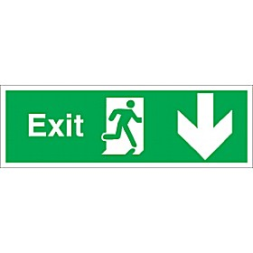 Exit Down Arrow