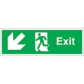 Exit Diagonal Left Down Arrow