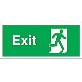 Exit Man Running Right
