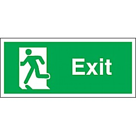 Exit Man Running Left