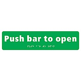 Braille Push Bar To Open