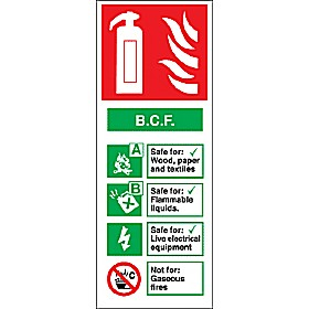 B C F Fire Extinguisher Sign Cheap B C F Fire