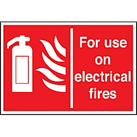 For Use On Electrical Fires Sign Cheap For Use On