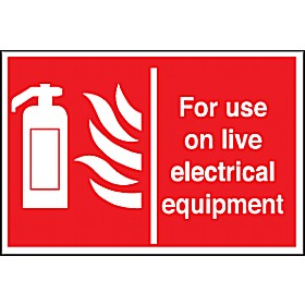 For Use On Live Electrical Equipment Sign