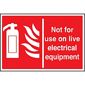 Not For Use On Live Electrical Equipment Sign