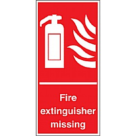 Fire Extinguisher Missing Sign