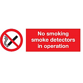 No Smoking Sign - Detectors In Operation