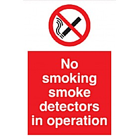 No Smoking - Smoke Detectors In Operation