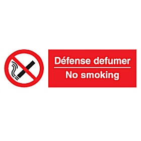 No Smoking/Defense Defumer Sign