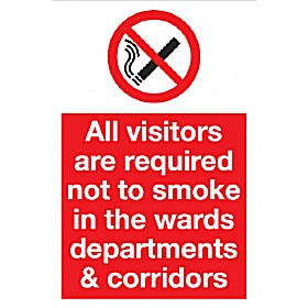 All Visitors Are Required Not To Smoke In The Wards Departments & Corridors.