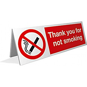 Thank You For Not Smoking Desktop Sign