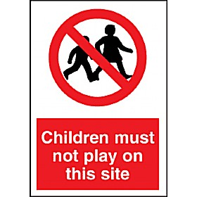 Children Must Not Play On This Site Sign Cheap Children