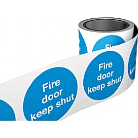 Fire Door Keep Shut Labels