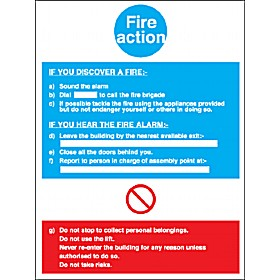 Fire Action Notice 1