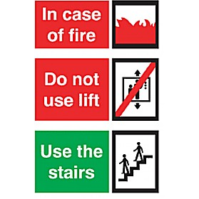 Incase Of Fire Do Not Use Lift Use The Stairs Sign Cheap