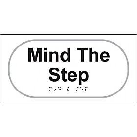 Braille Mind The Step Sign