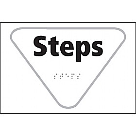 Braille Steps Sign