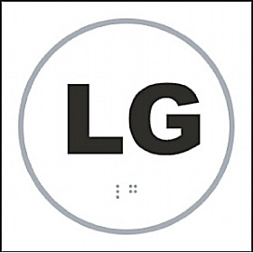 Braille LG Sign