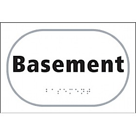Braille Basement Sign
