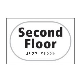 Braille Second Floor Sign