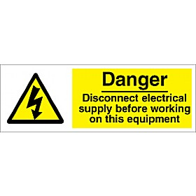 Danger Disconnect Electrical Supply Before Working On This Equipment.