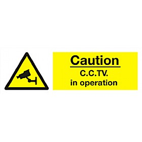 Caution C.C.T.V. In Operation Sign
