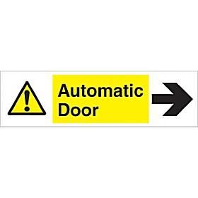 Automatic Door Right Arrow Sign