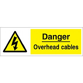 Danger Overhead Cables Sign