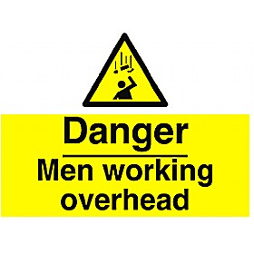 Danger Men Working Overhead Sign Cheap Danger Men