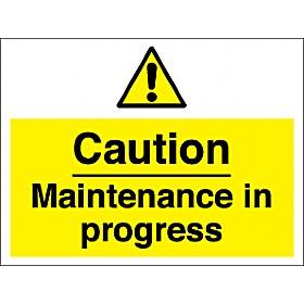 Caution Maintenance In Progress Sign Cheap Caution