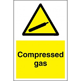 Compressed Gas Sign
