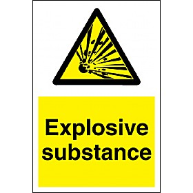 Explosive Substance Sign