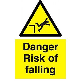 Danger Risk Of Falling Sign Cheap Danger Risk Of Falling