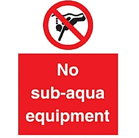 No Sub-Aqua Equipment
