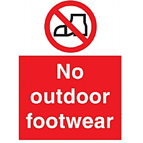 No Oudoor Footwear Sign
