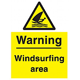 Warning Windsurfing Area Sign