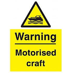 Warning Motorised Craft Sign
