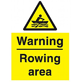 Warning Rowing Area Sign