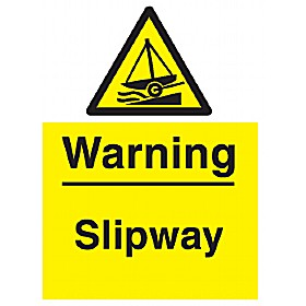 Warning Slipway Sign