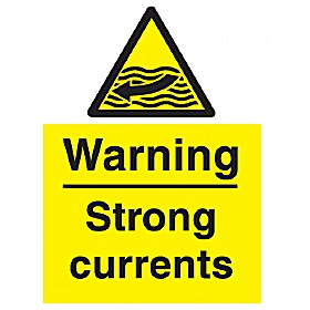 Warning Strong Currents Sign