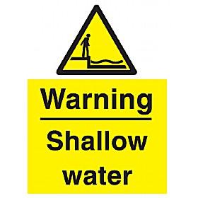 Warning Shallow Water Sign Cheap Warning Shallow Water