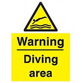 Warning Diving Area Sign