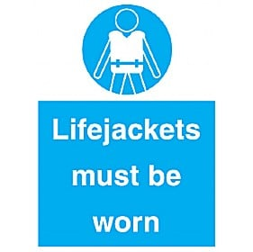 Lifejackets Must Be Worn Sign