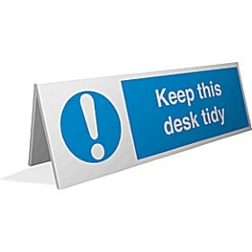 Keep This Desk Tidy Desktop Sign Cheap Keep This Desk