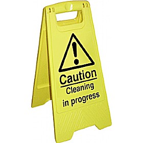 Caution Cleaning In Progress Floor Sign