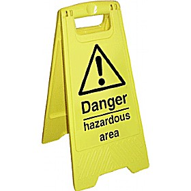 Danger Hazardous Area Floor Sign