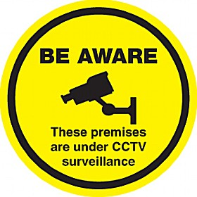 Be Aware These Premises Are Under CCTV Surveillance Sign