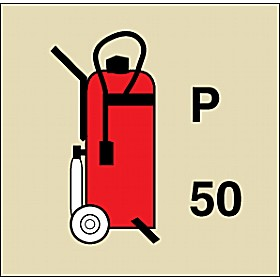 Gemglow Wheeled Fire Extinguisher Sign
