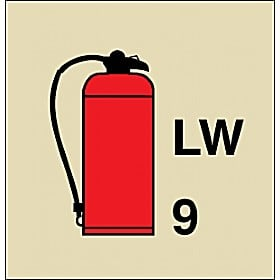 Gemglow Portable Fire Extinguisher Sign
