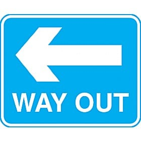 Way Out Left Arrow Sign
